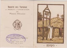 Image Religieuse Calendrier  1926  Societe Des Tapiocas Et Produits D'importation Des Missions Africaines - Images Religieuses