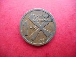 Katanga 1 Franc 1961 - Congo (Rép. Démocratique, 1964-70)