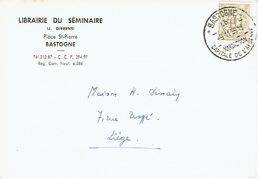 CP Publicitaire BASTOGNE 1959 - LIBRAIRIE DU SEMINAIRE - Bastogne