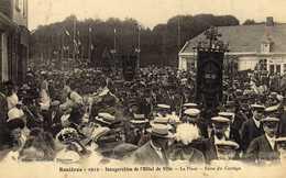 ROSIÈRES 1912 INAUGURATION DE L HOTEL DE  VILLE - Francia