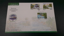 UGANDA 2007 FDC - RAMSAR CONVENTION COP9 COP 9 - WETLANDS & WATER - FISHES POISSONS BIRDS - Uganda (1962-...)