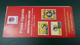 UGANDA 2006 PHILATELIC LEAFLET FLYER NOTICE NOTTICE FOLDER - ALGERIA IN STAMPS - WESTERN UNION - Uganda (1962-...)