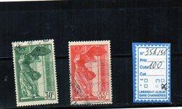 FRANCE OBLITERE N°354/55 - France