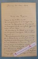 L.A.S 1912 M. MILHE POUTINGON à Cannes - Lausanne Fribourg - Lettre Autographe - Personnalité à Identifier - Autographes