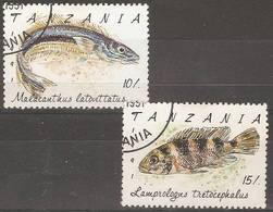 Tanzania - 1992 Fishes CTO   SG 1156-7 - Tanzanie (1964-...)