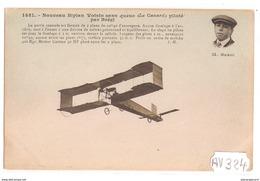 1885 AV324 AK PC CPA NOUVEAU BIPLAN VOISIN SANS QUEUE LE CANARD PILOTE PAR BREGI NC TTB - Dirigibili