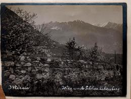 Tirage Photo Albuminé Italie - Merano -  Meran & Le Val Venosta - Lebenberg - Vers 1910 - Luoghi
