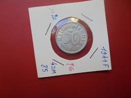 """3eme REICH 50 PFENNIG 1941 """"F"""" - 50 Reichspfennig"""