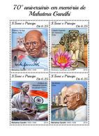 S.Tome&Principe. 2018 70th Memorial Anniversary Of Mahatma Gandhi. (404a) (Small ) - Mahatma Gandhi