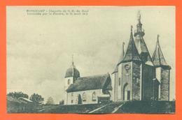 """CPA 70 Ronchamp """" Chapelle De Notre Dame Du Haut Incendiée Par La Foudre """" - France"""