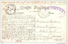 """Cachet """"Hopital Bénévole N° 154 Bis Bidart"""" 1916 Cp Biarritz - WW I"""