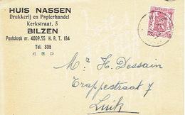 PK Publicitaire BILZEN 1947 - HUIS NASSEN - Drukkerij En Papierhandel - Bilzen