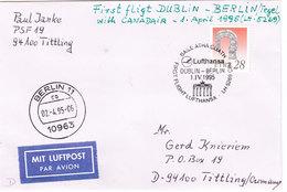 ITELAND LUFTPODT DUBLIN - BERLIN VITH CANADAIR 1995 - Altri