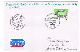 IRELAND  AIR MAAIL DUBLIN -BERČIN 1995 - Altri