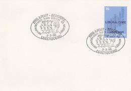 DIV42  Belgique  Libéralisme / 150ème Anniv. Du Parti Libéral En Belgique 1996   TTB - Storia Postale