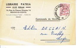 CP Publicitaire BRAINE-LE-COMTE 1952 -  JULES FIERAIN - Librairie PATRIA - Braine-le-Comte