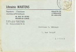 CP Publicitaire BRAINE-LE-COMTE 1959 - Librairie MARTENS - Braine-le-Comte