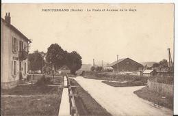 CPA -  25 - Montferrand -  La Poste Et Avenue De La Gare - Autres Communes