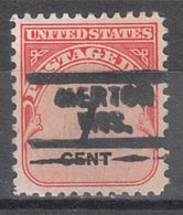 USA Precancel Vorausentwertung Preo, Locals Wisconsin, Merton 729 - Vereinigte Staaten