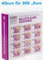 Für 0-EURO-Souvenirscheine Banknoten Album New 25€ Ohne Vordruck Der Souvenir-Noten In Leuchtturm Mit Muster-Schein - Timbres