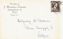 PK Publicitaire BREE 1953 - J. MONDELAERS - CONINCKX - Drukkerij - Bree