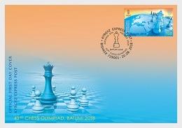Kirgizië / Kyrgyzstan - Postfris / MNH - FDC Schaken 2018 - Kirgizië