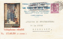 CP Publicitaire BRUXELLES 1940 - LES USINES DE KEYN FRERES - Fabrique De Couleurs, Vernis, émaux - Belgique