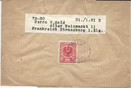 BANDE POUR JOURNAL 1921 POUR LA FRANCE - 1918-1945 1. Republik