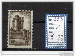 FRANCE LUXE ** -  N° 393 - Unused Stamps