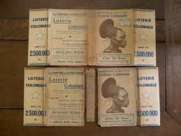 Twee Stuks Boek Omslag   LOTERIE  COLONIALE - Billets De Loterie