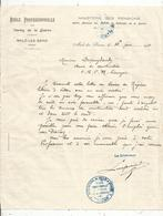 Courrier , Ecole Professionnelle Des VEUVES De La GUERRE , Malo Les Bains , Nord ,1921, Cachet, Frais Fr 1.45 E - Vieux Papiers