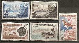 Saint-Pierre-et-Miquelon Collection Avec Oiseau, Bateau Etc - Collections, Lots & Séries