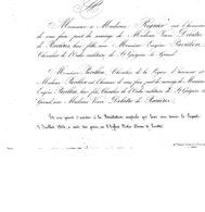 BRISTOL De MARIAGE De Mme Veuve DELATRE De RAVIERES & Mr E. PAVILLON ,le 02 Juillet 1864 - Mariage