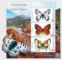 Kirgizië / Kyrgyzstan - Postfris / MNH - Sheet Vlinders 2018 - Kirgizië