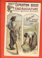 EBA-36 Lausanne Litho 8ème Exposition Suisse D'agriculture Lausanne 1910,Viticulture,sylviculture,horticulture, Payot - VD Waadt