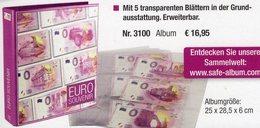 Neutral Album Für Die 0-EURO-Souvenirscheine New 17€ Für 15/30 Souvenir-Noten/Banknoten Erweiterbar SAFE-Alben 3100 - Stamps