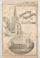 Bulletin Paroissial De SAINT PIERRE , Doué La Fontaine , 1959 , 16 Pages , 2 Scans , Frais Fr 1.95 E - Non Classés