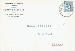 CP Publicitaire CERFONTAINE 1952 - EDMOND LEBAILLY - Imprimerie - Librairie - Papeterie - Cerfontaine
