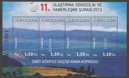 2013 Turkey Izmit Bay Bridge Minisheet (** / MNH / UMM) - Nuevos