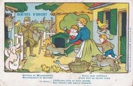 Carte Franchise Militaire Rentrée D'Orient Illstration B. Rabier Armée D'Orient WW1 - Marcophilie (Lettres)