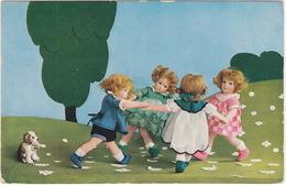 Dansende Poppen (Uitg. R.E.B. Serie 433 Nr. 5646)  - 1933, Utrecht - Humorkaarten