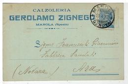 Cartolina Commerciale Marola - Calzoleria Gerolamo Zignego - La Spezia