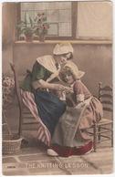 'The Knitting Lesson' - (1914) - Mother And Child , Traditional Clothes - KNITTING / STRICKEN / BREIEN / TRICOT - Taferelen En Landschappen