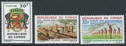 Congo-Brazzaville YT 180-182 XX / MNH Armoiries - Congo - Brazzaville