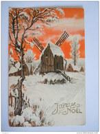 Bonne Année Molen Winter Landschap Moulin Paysage Hivernal Circulée  Edit SBW Paris - Neujahr