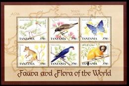TANZANIA 1998** - Fauna And Flora Of The World  - Sheet 6 Val. MNH, Come Da Scansione. - Tanzania (1964-...)