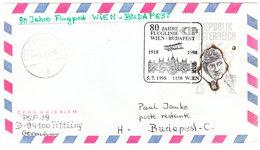 AUSTRIA FLUGPOST WIEN -BUDAPEST 1998 - Austria