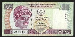 CYPRUS 5 POUNTS 2001 P#61a VF++ - Chypre