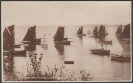 Trawlers Becalmed, Brixham, Devon, C.1920 - Valentine's XL Series RP Postcard - England