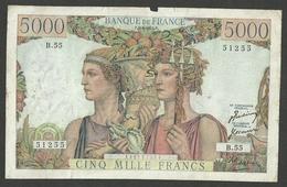 FRANCE 5000 5,000 FRANCS 1951 P-131b - 1871-1952 Frühe Francs Des 20. Jh.
